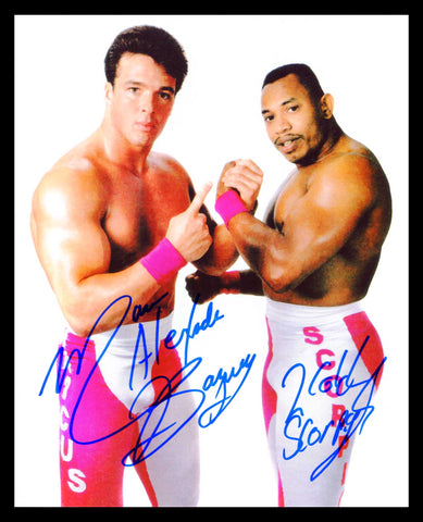 2 Cold Scorpio & Marcus Alexander Buff Bagwell Dual Signed Photo