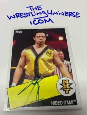 "Hideo Itami WWE NXT Signed ""On Card"" 2015 Topps Rookie Card"