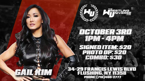 In-Store Meet & Greet with Gail Kim Sat Oct 3rd from 1-4PM TIX NOT MAILED (CHOOSE COMBO $30/SIGNED ITEM $20/PHOTO OP $20)