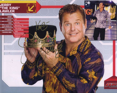 Jerry Lawler Pose 1 Signed Photo COA