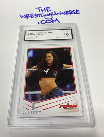 AJ Lee 2012 Topps Rookie Card GEM MINT 10