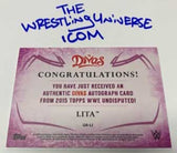 "LITA WWE Signed ""On Card"" 2015 Topps Divas Undisputed Card"
