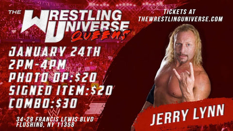 In-Store Meet & Greet with Jerry Lynn Sun Jan 24th from 2-4PM TIX NOT MAILED (CHOOSE COMBO $30/SIGNED ITEM $20/PHOTO OP $20)