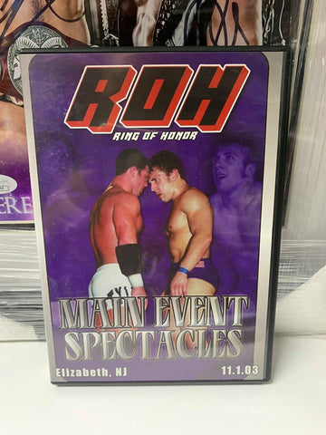 ROH Ring Of Honor Main Event Spectacles Elizabeth, NJ 11/1/03 DVD OOP