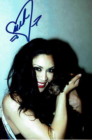 Melina Pose 4 Signed Candid Photo COA
