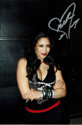 Melina Pose 6 Signed Candid Photo COA