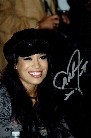 Melina Pose 1 Signed Candid Photo COA