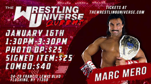 In-Store Meet & Greet with Marc Mero Sat Jan 16th from 1:30-3:30PM TIX NOT MAILED (CHOOSE COMBO $40/SIGNED ITEM $25/PHOTO OP $25)