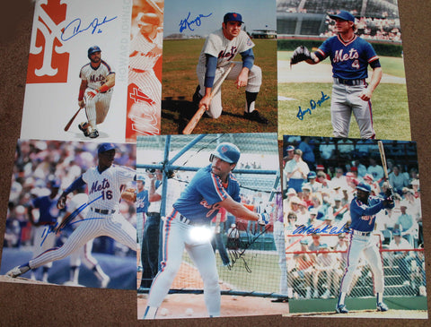 1986 NY Mets 6 Auto Lot B Holiday Sale! HUGE DISCOUNT