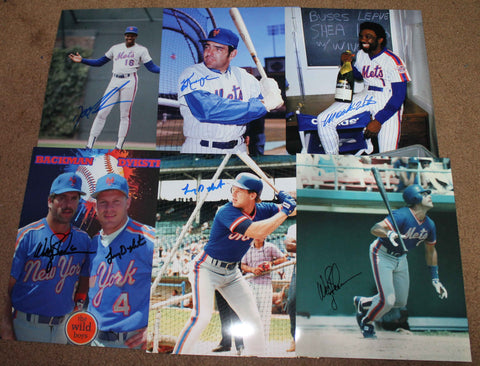 1986 NY Mets 6 Auto Lot A Holiday Sale! HUGE DISCOUNT