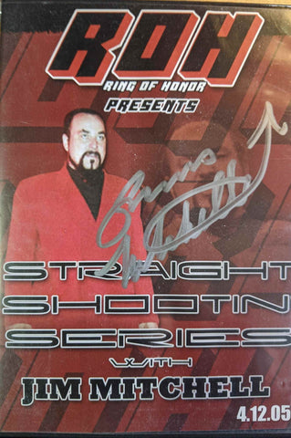 ROH Ring of Honor Straight Shootin' Series Jim Mitchell Signed DVD