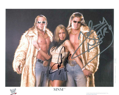 MNM (Johnny Nitro & Melina) Dual Signed Photo COA