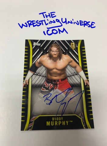 Buddy Murphy WWE NXT Signed On Card Auto Rookie