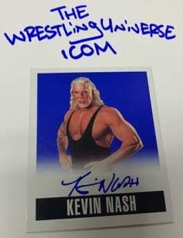 Kevin Nash Signed 2014 Leaf Card #'ed 3/25