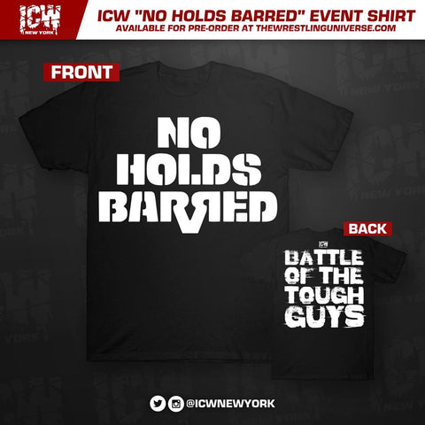"ICW ""No Holds Barred"" Event T-Shirt (Black)"