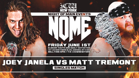 ICW Impact Championship Wrestling NOME Fri June 1st 2018 2nd Row Ticket