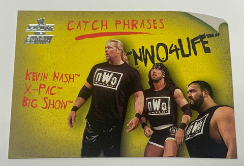 NWO 2002 Fleer Catch Phrases Insert Card Kevin Nash X-PAC & Big Show