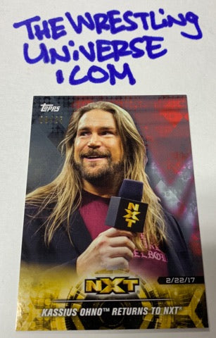 Kassius Ohno WWE NXT Topps Rookie Card #8/25