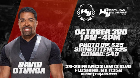 Meet & Greet with David Otunga Sat Oct 3rd from 1-4PM TIX NOT MAILED (CHOOSE COMBO $40/SIGNED ITEM $25/PHOTO OP $25)