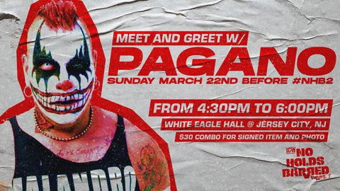 Meet & Greet with Pagano Sun March 22nd Before No Holds Barred Event #NHB2 (White Eagle Hall NJ)