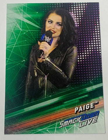 Paige WWE 2019 Topps Card #38 (Green Version)