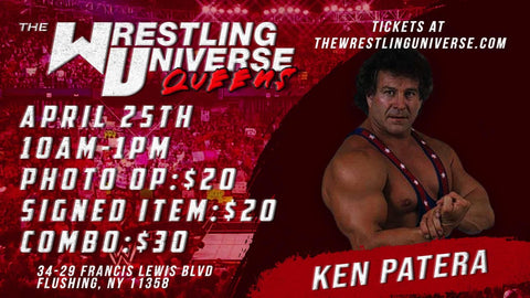 In-Store Meet & Greet with Ken Patera Sun April 25th from 12-3PM (CHOOSE COMBO $30/SIGNED ITEM $20/PHOTO OP $20)