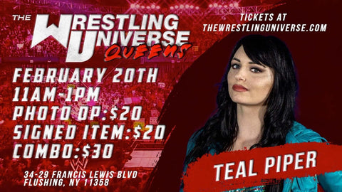 In-Store Meet & Greet with Teal Piper Sat Feb 20th from 11AM-1PM TIX NOT MAILED (CHOOSE COMBO $30/SIGNED ITEM $20/PHOTO OP $20)