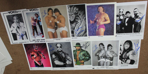 (ONLY 2 LOTS AVAILABLE) 20 Signed WWE WWF WCW Promo Pose Holiday Sale! HUGE DISCOUNT