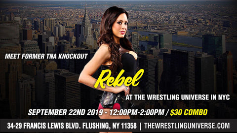 Meet Former TNA Knockout Rebel Sun Sept 22nd From 12PM-2PM COMBO (TICKETS NOT MAILED)