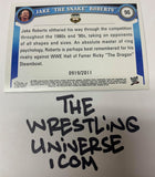 "Jake The Snake Roberts WWE 2011 Topps ""Blue Parallel"" #'ed 919/2011"