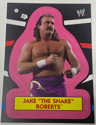 "Jake ""The Snake"" Roberts WWE 2012 Topps Sticker Card"