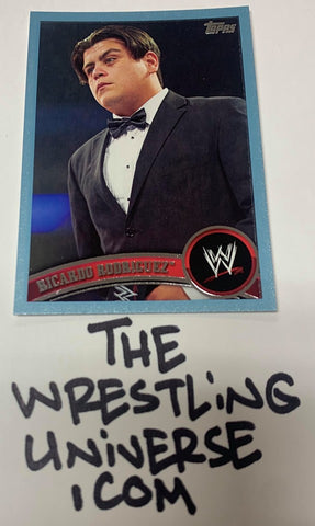 "Ricardo Rodriguez WWE 2011 Topps ""Blue Parallel"" #'ed 1554/2011"