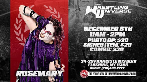 In-Store Meet & Greet with Rosemary Sun Dec 6th from 11AM-2PM TIX NOT MAILED (CHOOSE COMBO $30/SIGNED ITEM $20/PHOTO OP $20)