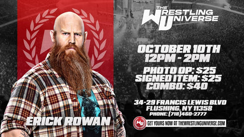 In-Store Meet & Greet with Erick Rowan Sat Oct 10th from 12-2PM TIX NOT MAILED (CHOOSE COMBO $40/SIGNED ITEM $25/PHOTO OP $25)