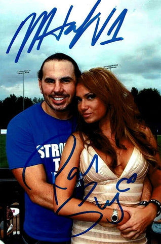 Matt Hardy & Reby Sky Dual Signed Candid Photo COA