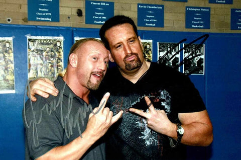 Tommy Dreamer & Jerry Lynn Dual Signed Candid Photo COA