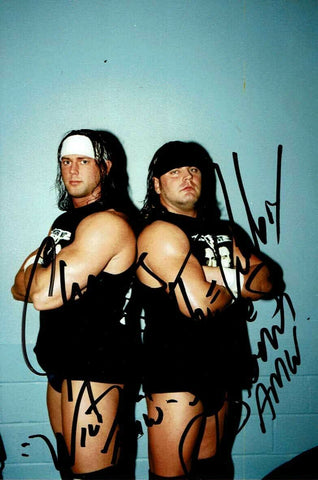 America's Most Wanted (Chris Harris & James Storm) Signed Candid Photo COA