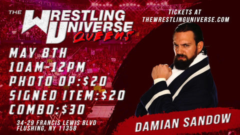 In-Store Meet & Greet with Damian Sandow Sat May 8th from 10AM-12PM TIX NOT MAILED (CHOOSE COMBO $30/SIGNED ITEM $20/PHOTO OP $20)