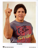 Tito Santana Signed Photo Pose 1 COA