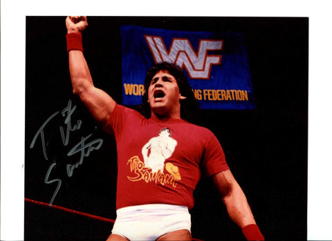 Tito Santana Signed Photo Pose 3 COA