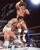 Tito Santana Signed Photo Pose 2 COA