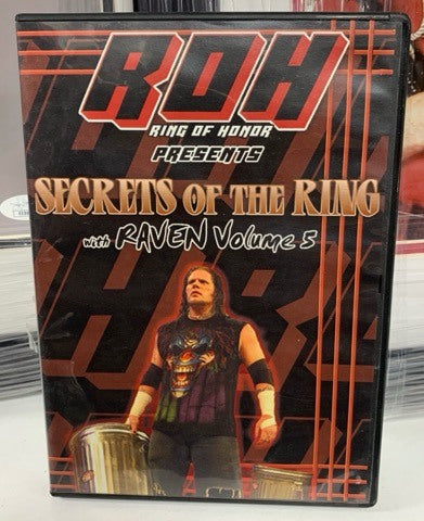 ROH Presents Secrets of The Ring with Raven Volume 5 DVD (RARE)