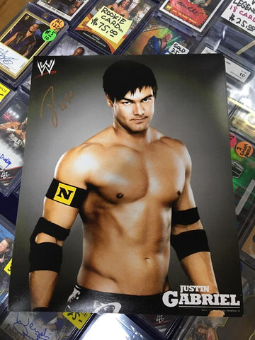 Justin Gabriel Pose 4 Signed Photo COA