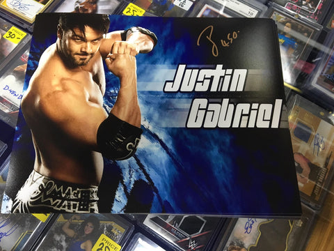 Justin Gabriel Pose 5 Signed Photo COA
