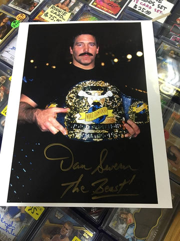 "Dan ""The Beast"" Severn Signed Photo COA"
