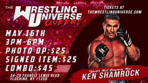 In-Store Meet & Greet with Ken Shamrock Sun May 16th from 3-6PM TIX NOT MAILED (CHOOSE COMBO $45/AUTO $25/PHOTO OP $25)