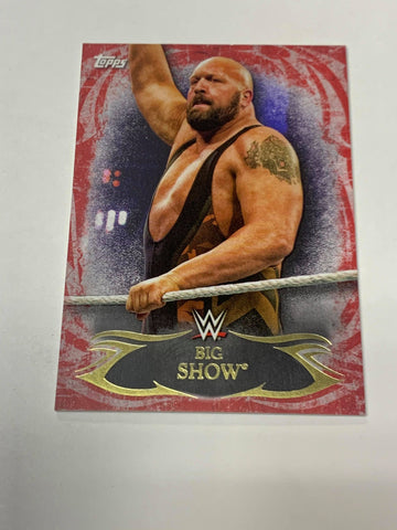 Big Show WWE 2015 Topps Undisputed Card #26