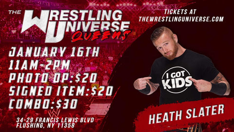 **NEW DATE*** In-Store Meet & Greet with Heath Slater Sat Jan 16th from 11AM-2PM (Choose Combo $30/Photo $20/Auto $20)