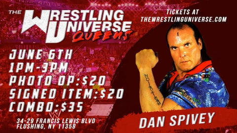 In-Store Meet & Greet with Dan Spivey Sat June 5th from 1-3PM TIX NOT MAILED (CHOOSE COMBO $35/SIGNED ITEM $20/PHOTO OP $20)