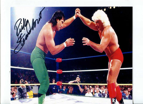 Ricky Steamboat Pose 5 Signed Photo COA